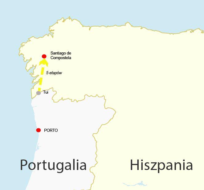 Szlak portugalski ostatnie 100km
