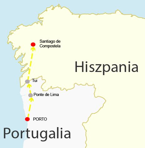 Porto a Santiago pieszo wewnetrzny