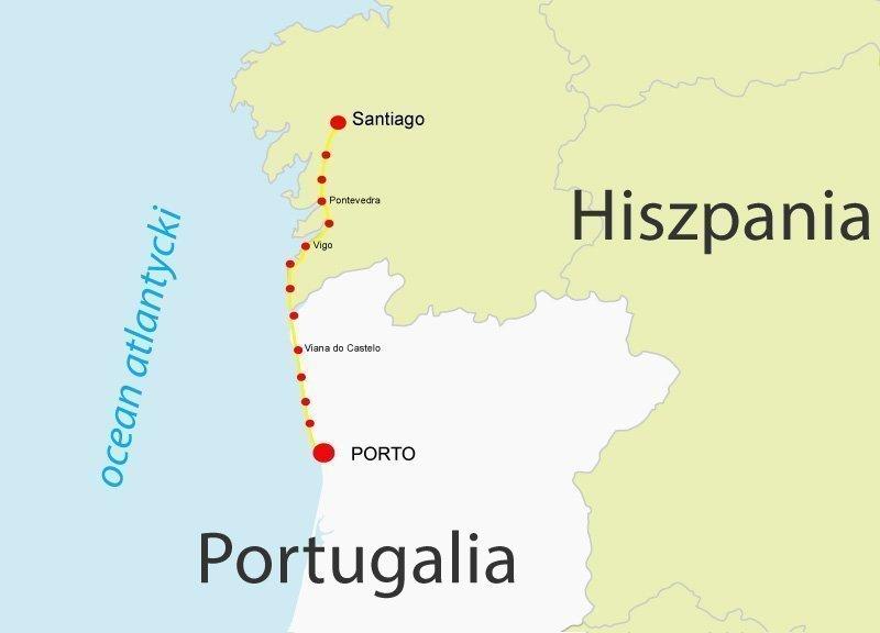 szlak portugalski costa wybrzeze